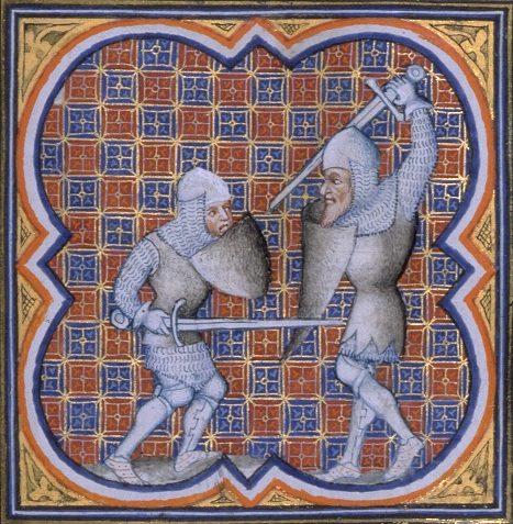Combate de Roland contra o gigante Ferragut
