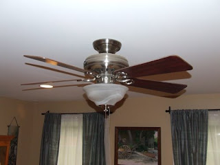 How To Replace Light Fixture with Ceiling Fan   Home Construction     picture of ceiling fan Replacing a light fixture