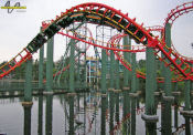 Anaconda Roller Coaster - Kings Dominion - Corkscrews