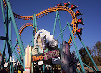 Two Face Roller Coaster Six Flags America