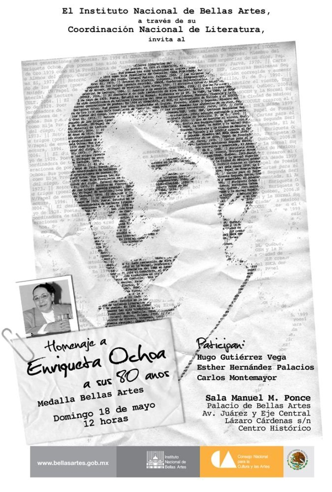 Homenaje nacional a Enriqueta Ochoa