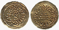 A bronze triens of King Achila of the Visigoths