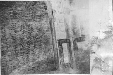 Huge ventilator sealed shut with bricks