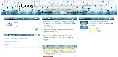 iGoogle skin-British summer