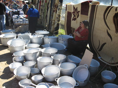 pots at the market
