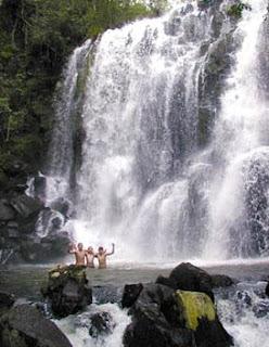 Hotel rústico en la selva tropical húmeda