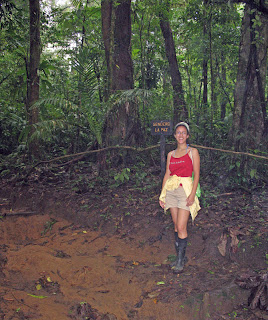 Erica Ridley in Costa Rica: hiking a national forest