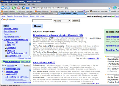 New Way to Share: Google Reader links Shared Items with