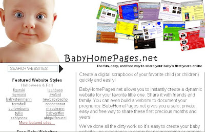 Free Baby Website BabyHomepages.Net