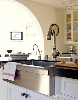 Frankeu0027s Manor House Apron Front Sink In Stainless Steel Puts An Industrial  Spin On The Country Look. As Seen In House Beautiful.