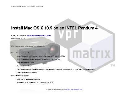 Installez Mac OS sur Pentium 4 3