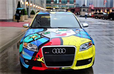Audi RS4 Art Car by Romero Britto