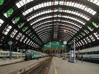 Andenes de la estación de Milano Centrale