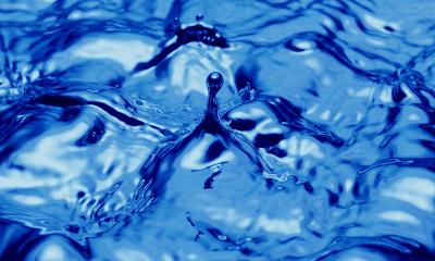Blue Water Splash wallpaper