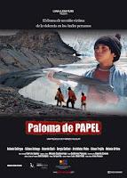 Paloma de papel poster
