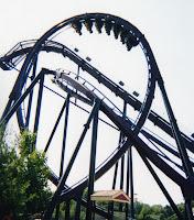 Batman The Dark Knight Roller Coaster - Six Flags New England