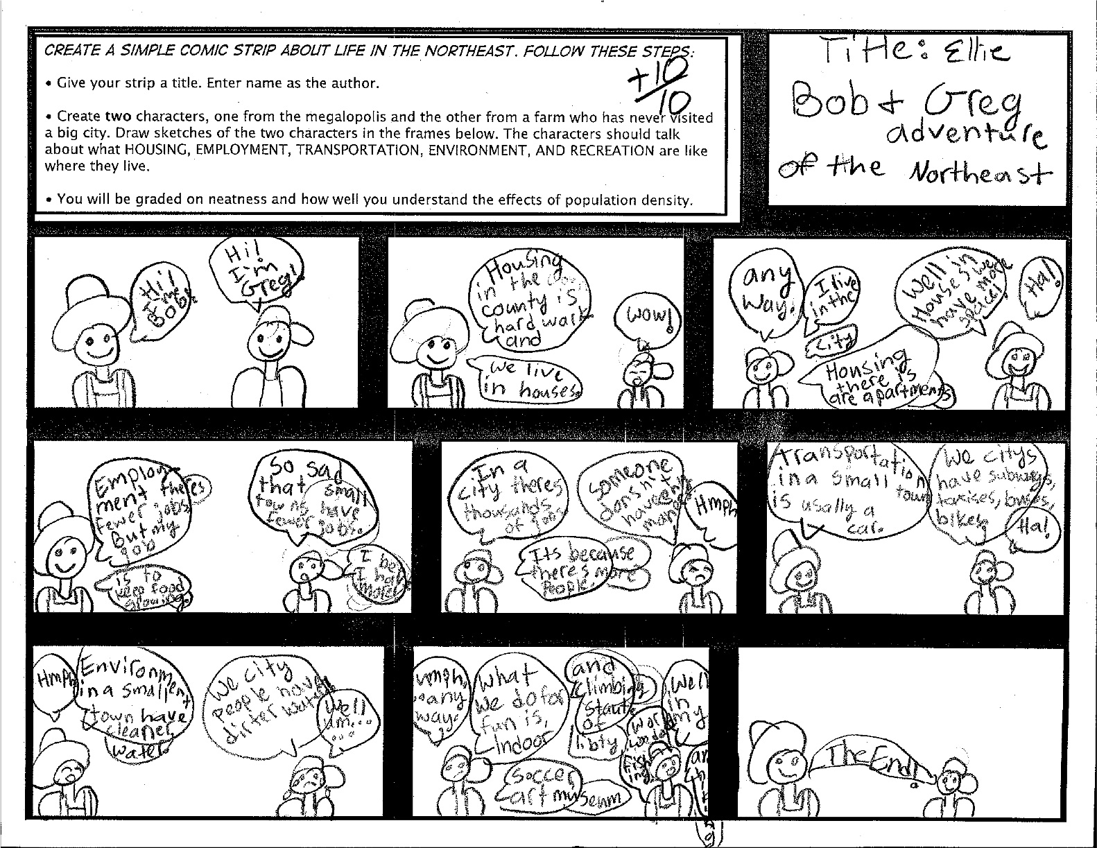 Mr O Brien S 4th Grade Blog Northeast Comic Strip