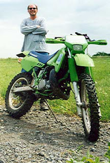 Me and the KDX during a trail ride near Prattville, OK