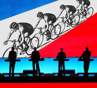 Kraftwerk playing their 1983 Tour De France single in concert.