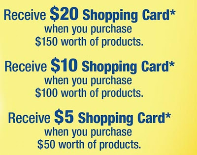 Get the Free Gift Shopping Card right now