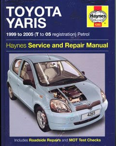 Toyota Yaris Workshop & Owners Manual