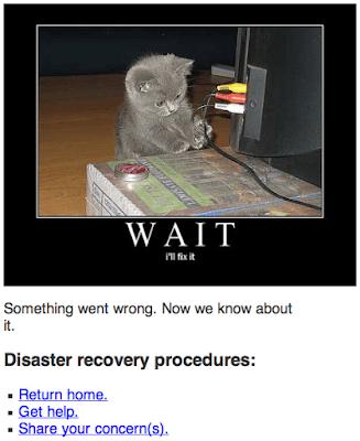 404, ny blogg och gamla gubbar på bågar…
