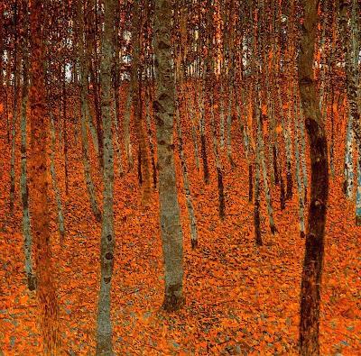 Gustav Klimt, Floresta de Faias, 1902