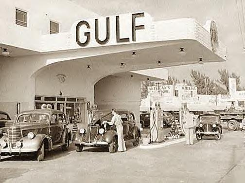 Gas Station, Miami Beach, Florida, 1939