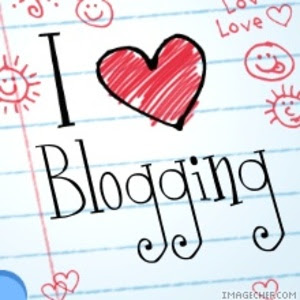 cartoon image depicting love of blogging