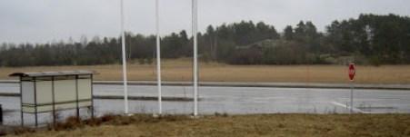 Rastplats (med orienteringskarta) för fordon som kört av E4 från söder/väster. Linköpings norra/östra trafikplats.
