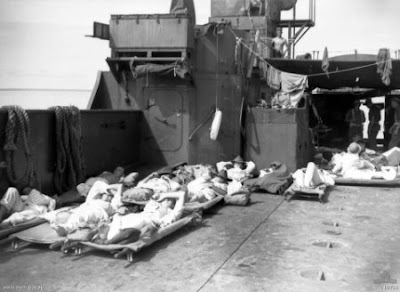 8 July 1945 hospital tarakan island ship Philippines People Filipino Pinoy Pilipinas Old Black White Pictures wounded soldiers Wanganella Australian noon