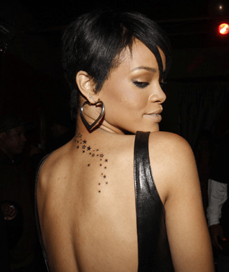 Check out some of these celebrity tattoos: Rihanna