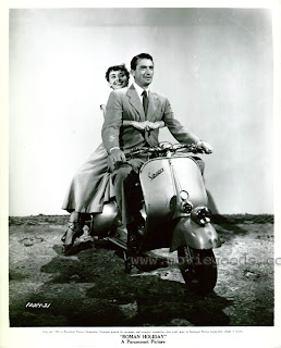 Audrey Hepburn, Gregory Peck and a Vespa