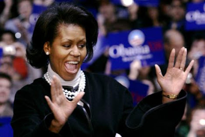 Michelle Obama Wears Pearls on the Campaign Trail