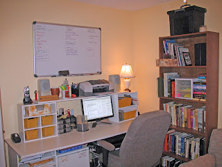 Desk space AND research books right where I can reach them!