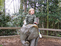 Fun climbing bronze statue at Riverbanks Zoo