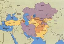 mapa střední asie