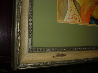 Frame in detail on Freckled Orchids painting