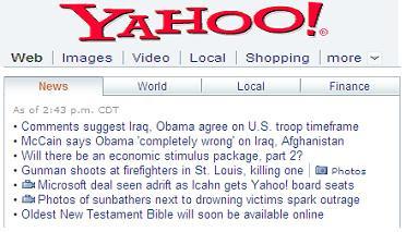 Yahoo antwortet datiert