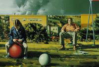 Sidney Goodman, Figures in a landscape, 1973, part.