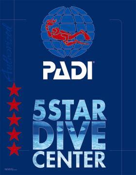 PADI Five Star decal