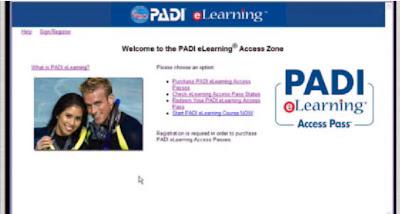 PADI eLearning Access Zone