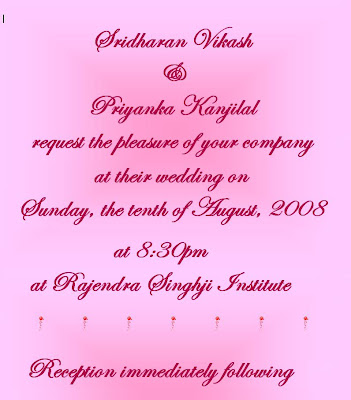 Wedding Invitation Cover Letter To Friends Celebration Sle