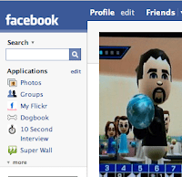 Image of part of a Facebook profile page.