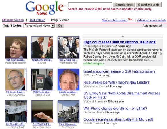 Google News in photos