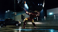 Iron Man is really angry and is going to kick Iron Monger's ass!