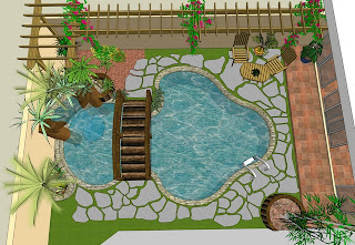 chelbr™′s Sketchup Projects: Backyard Landscaping on Sketchup Backyard id=43432