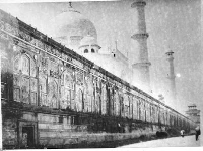 Rear view of the Taj Mahal and 22 apartments