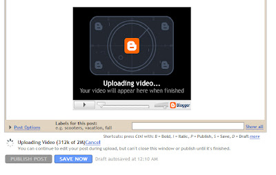 Now Add a video to blogpost directly from blogspot post editor