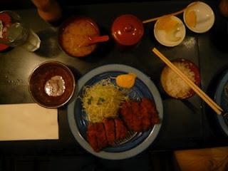 Menú tonkatsu en Katsuhama